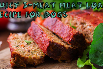 Juicy 3-Meat Meat Loaf Recipe For Dogs