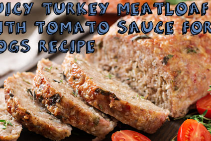 Juicy Turkey Meatloaf with Tomato Sauce For Dogs Recipe