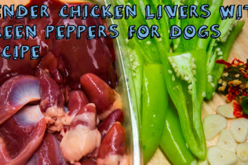 Tender Chicken Livers with Green Peppers for Dogs Recipe